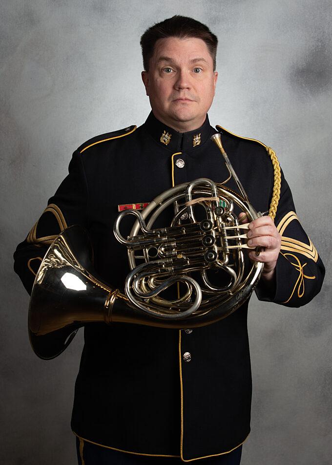 SFC Aaron Cockson, french horn
