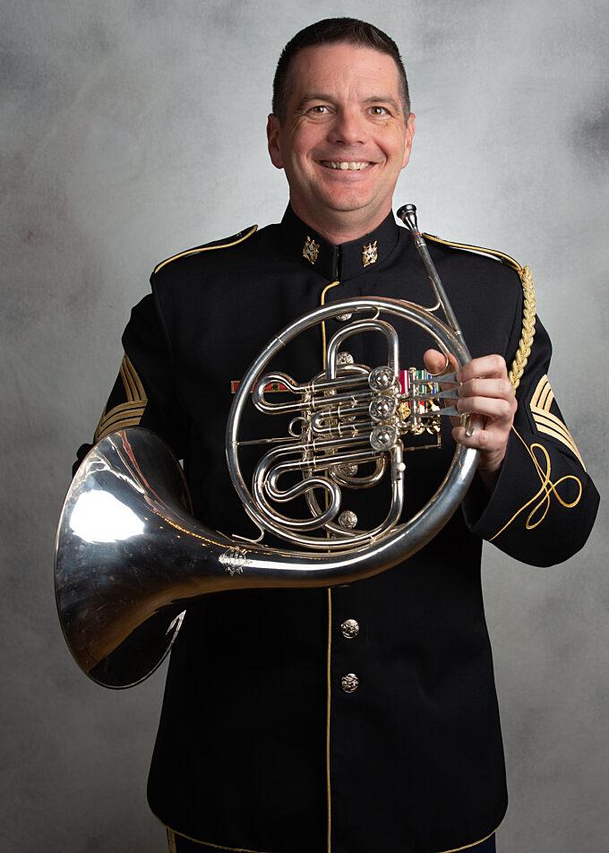 MSG Shawn Hagen, french horn