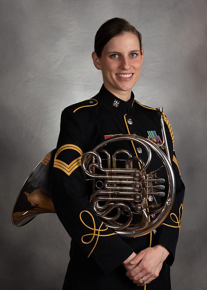 SFC Christy Klenke, french horn