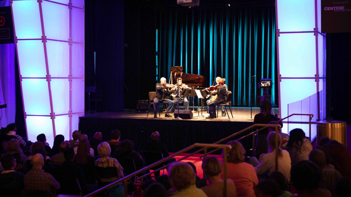 Members of the Chamber Players perform at the Kennedy Center's Millennium Stage