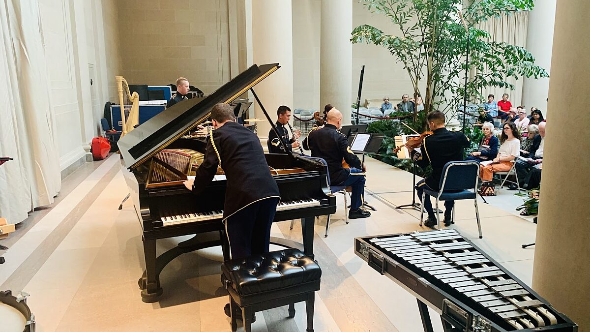 Members of the Chamber Players perform at the National Gallery of Art
