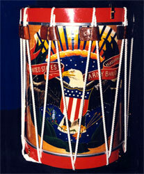 A rope drum used by The Herald Trumpets